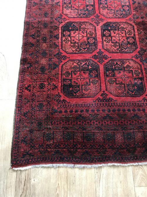 Handgeknoopte vintage kelim tapijt