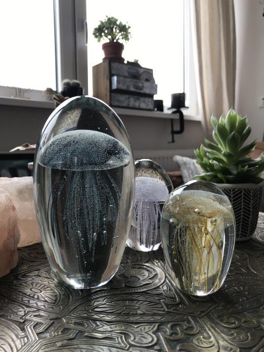 Glazen ornament kwal