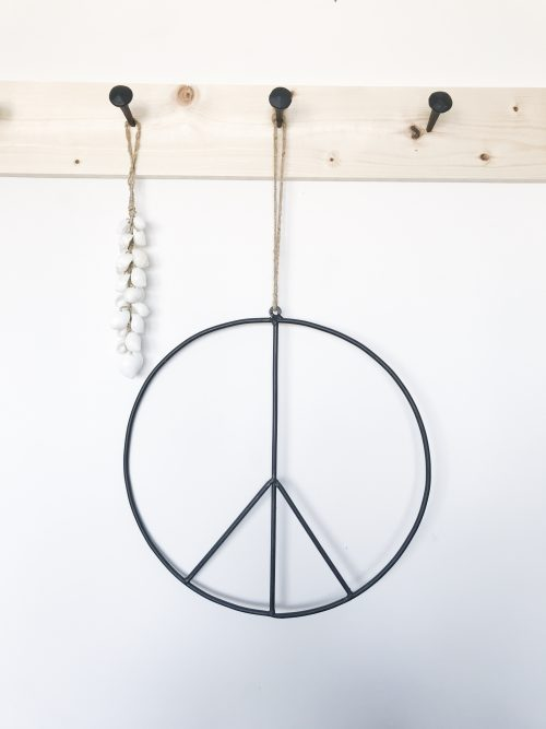 peace teken metaal