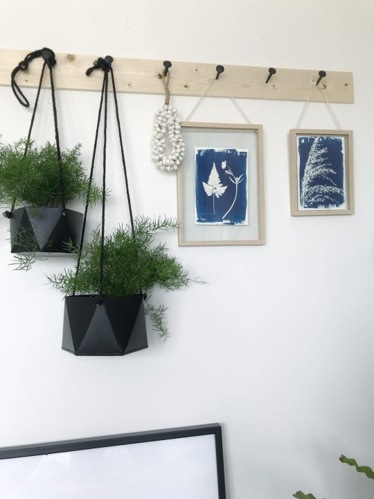 plantenpot hangend zwart