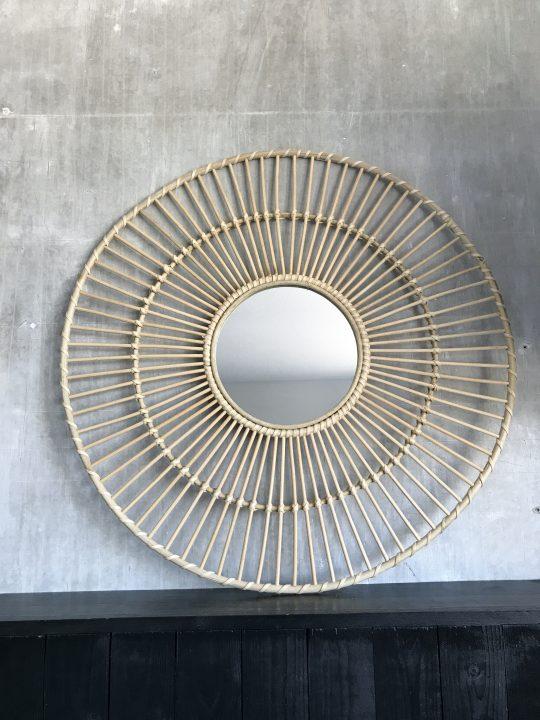 spiegel rotan rond groot