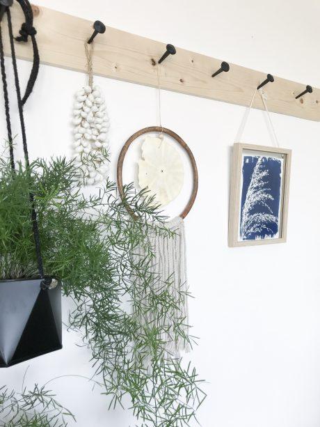 Muurdecoratie schelpen hanger