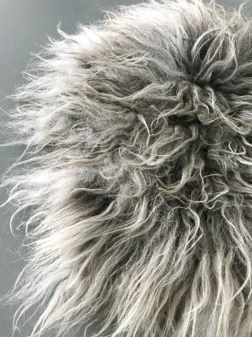diervriendelijke schapevacht grijs