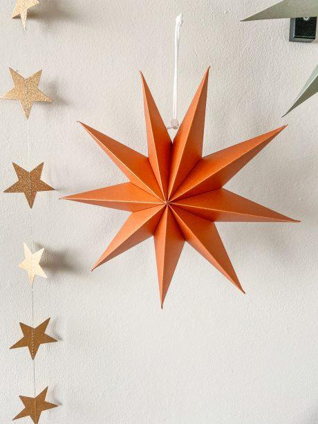terracotta papieren kerstster