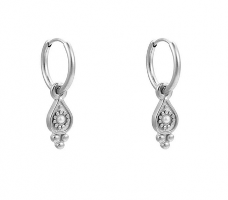 stainless steel oorbellen met hanger
