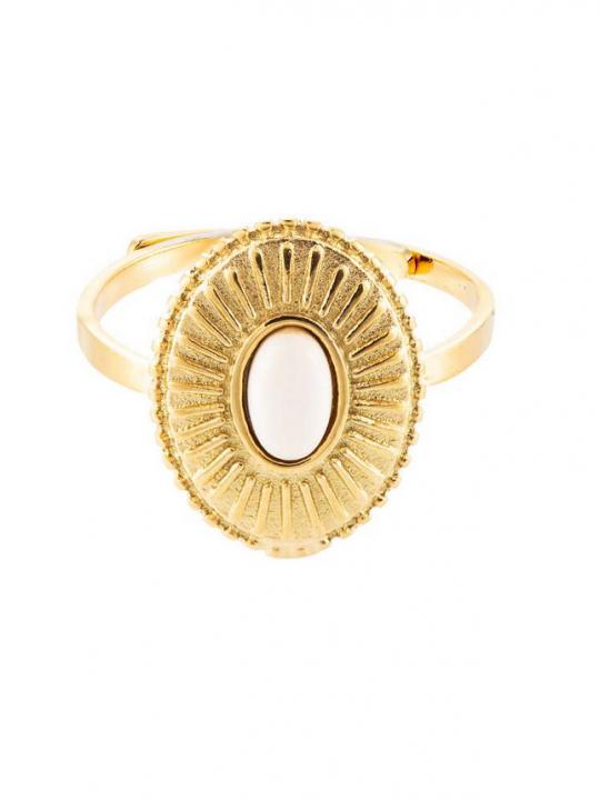 ronde ring met natuursteen