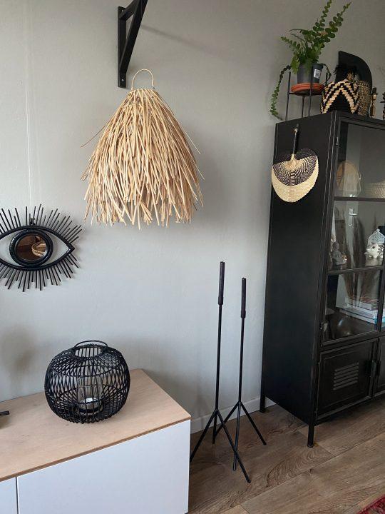 plafondlamp van raffia