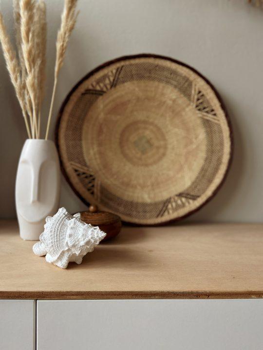 witte decoratie schelp