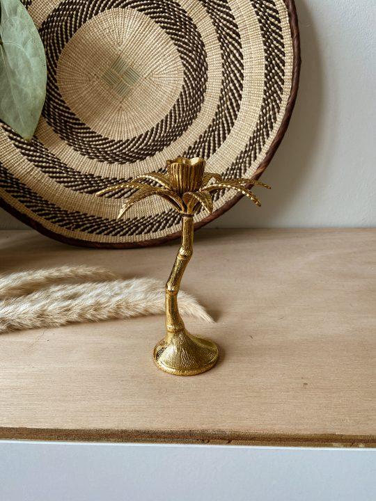 gouden palmboom kandelaar