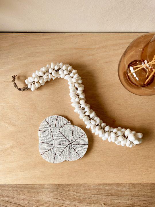 schelpenbundel wit lang