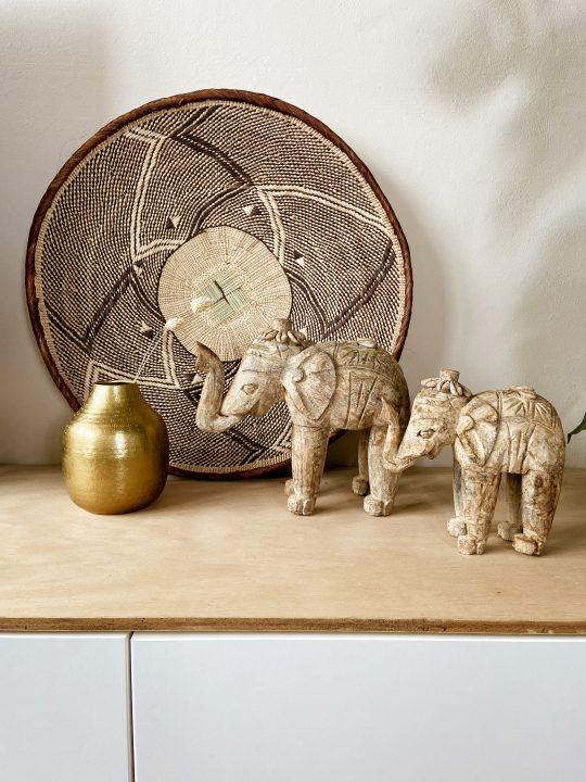 houten indische olifant decoratie