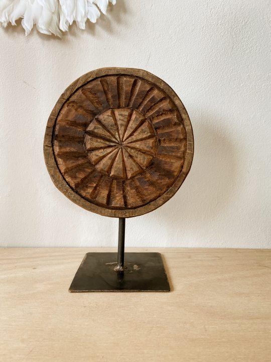 houten oranment india rond