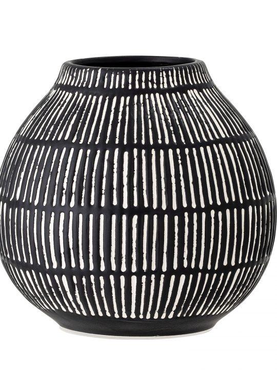 zwart witte vaas