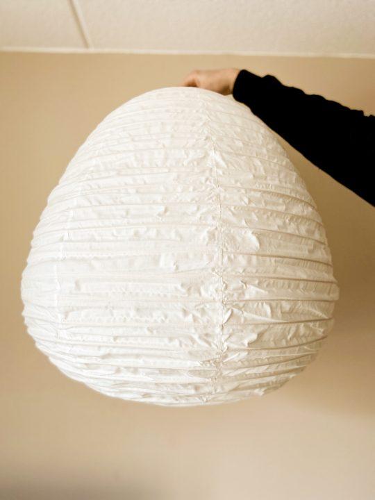 witte lampenkap lampion vorm